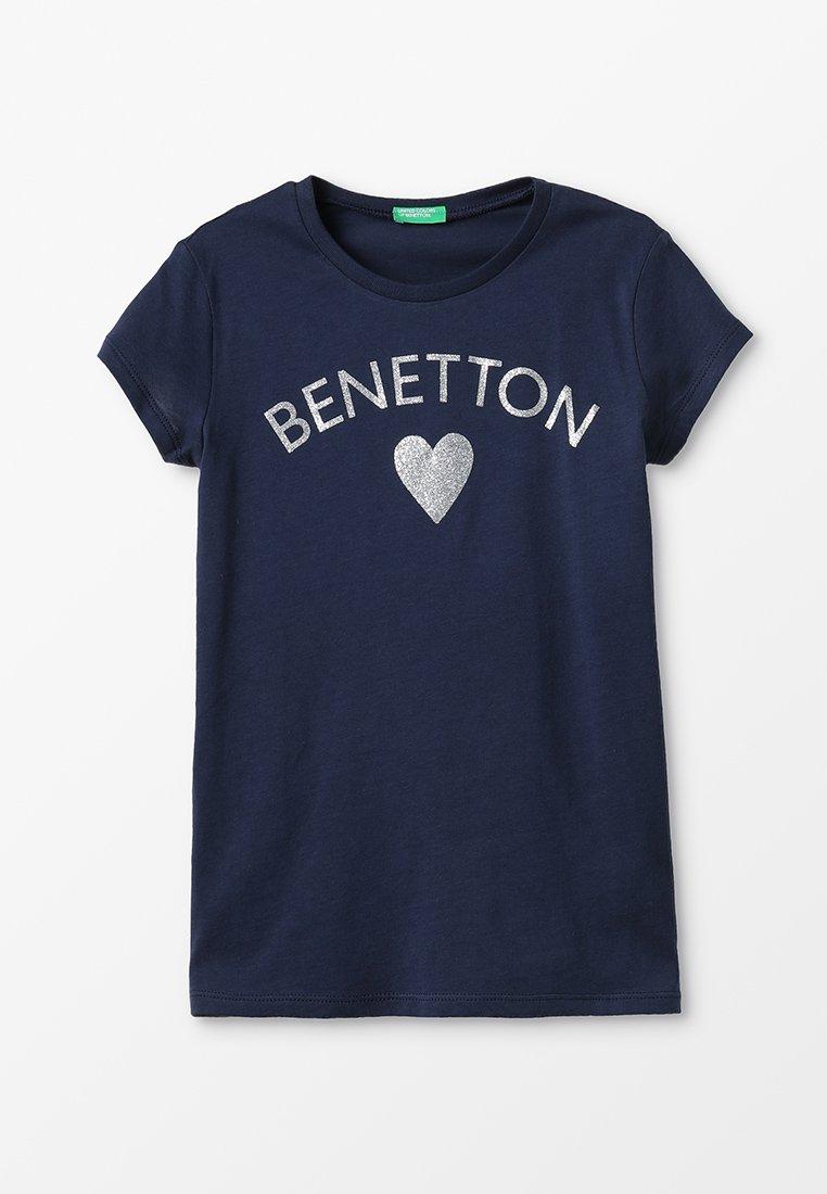 Benetton - BASIC - T-shirt print - blue