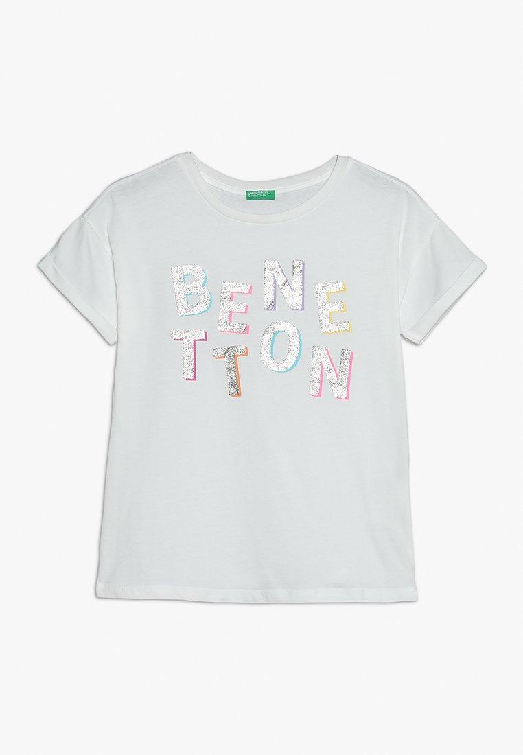 Benetton - Triko spotiskem - white