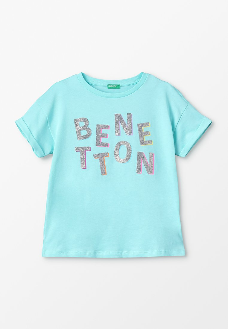 Benetton - T-Shirt print - light blue