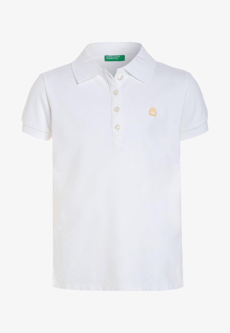 Benetton - BASIC - Koszulka polo - white