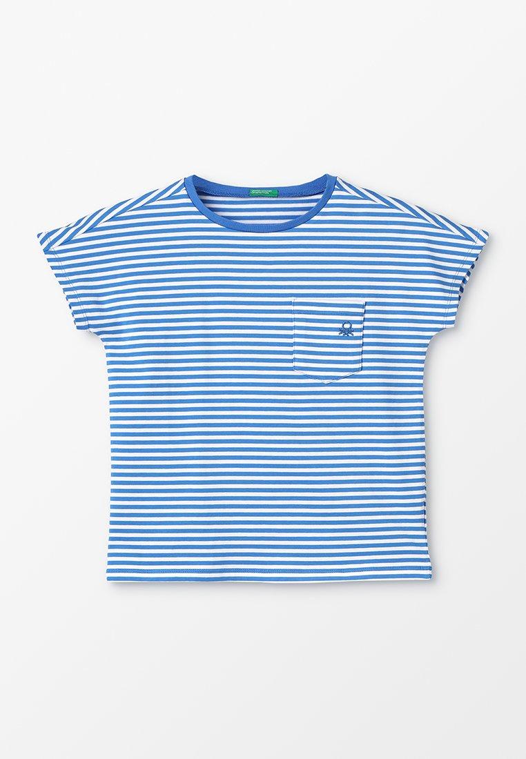 Benetton - T-Shirt print - white/blue