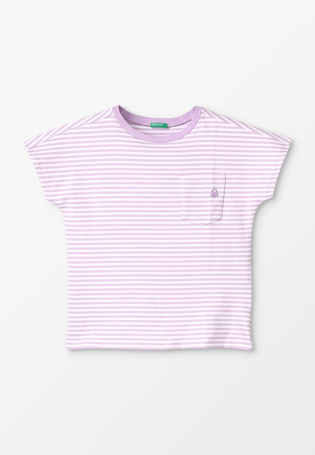 T-shirt med print - purple, white