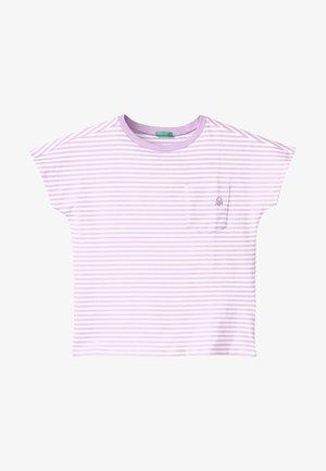 Camiseta estampada - purple, white