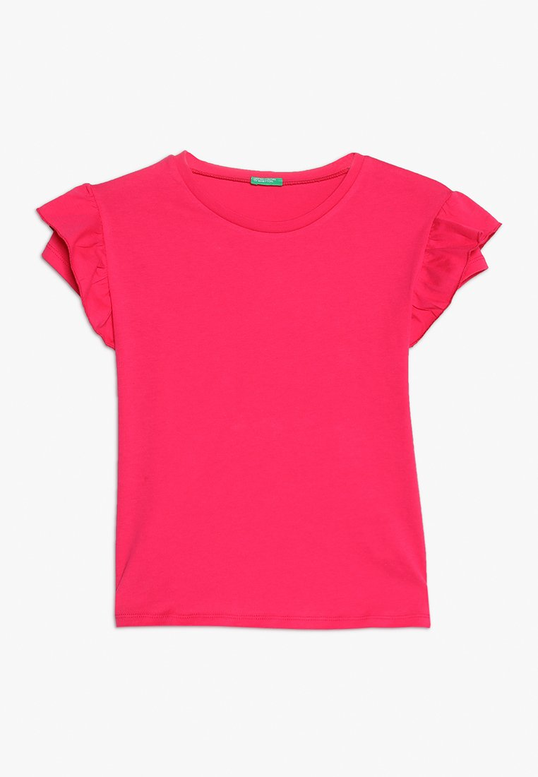 Benetton - T-shirt basic - pink
