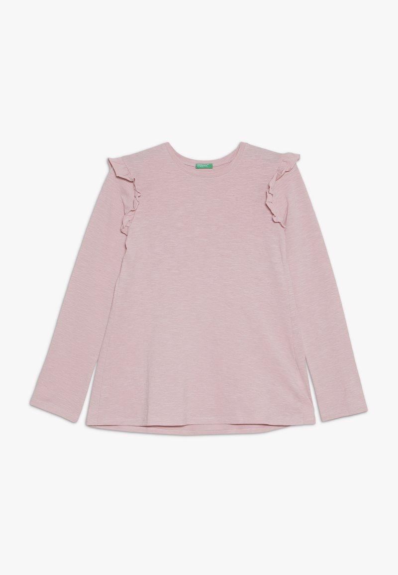 Benetton - Bluzka z długim rękawem - rose
