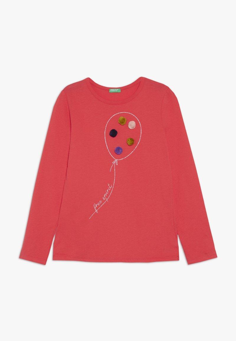 Benetton - Pitkähihainen paita - red
