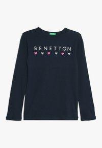 Benetton - Maglietta a manica lunga - dark blue - 0