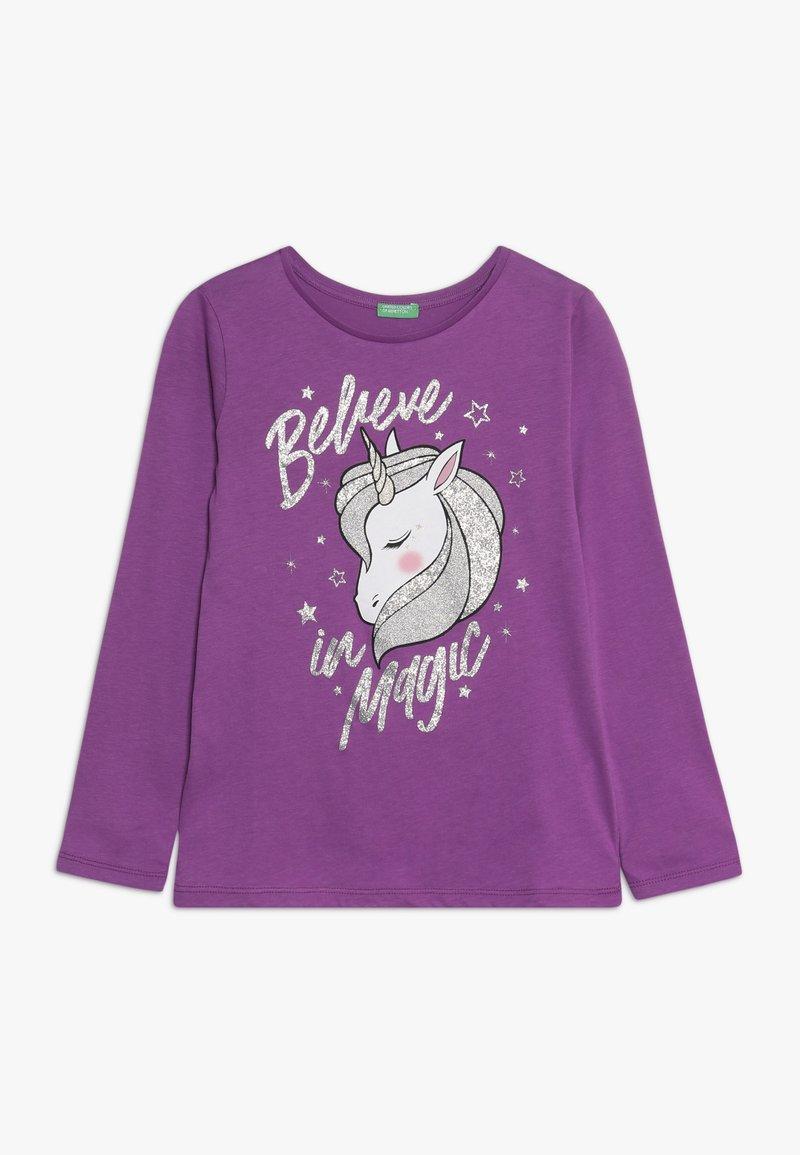 Benetton - LONG SLEEVES  - Pitkähihainen paita - purple