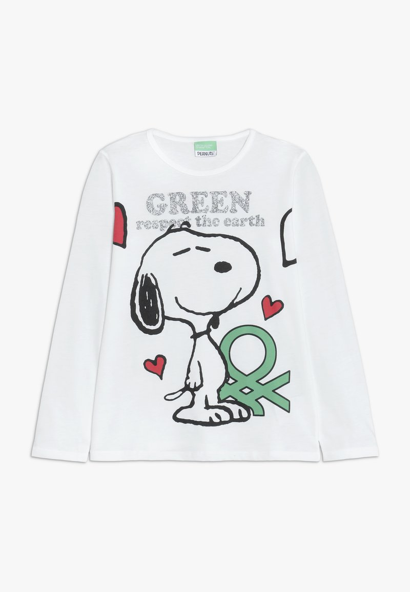 Benetton - LONG SLEEVES  - Long sleeved top - white
