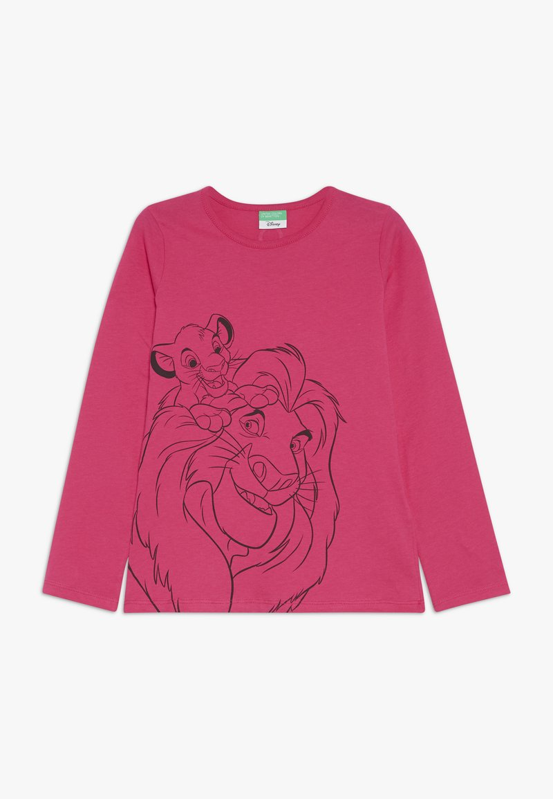 Benetton - LION KING - Long sleeved top - pink