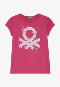 Benetton - Print T-shirt - pink - 2