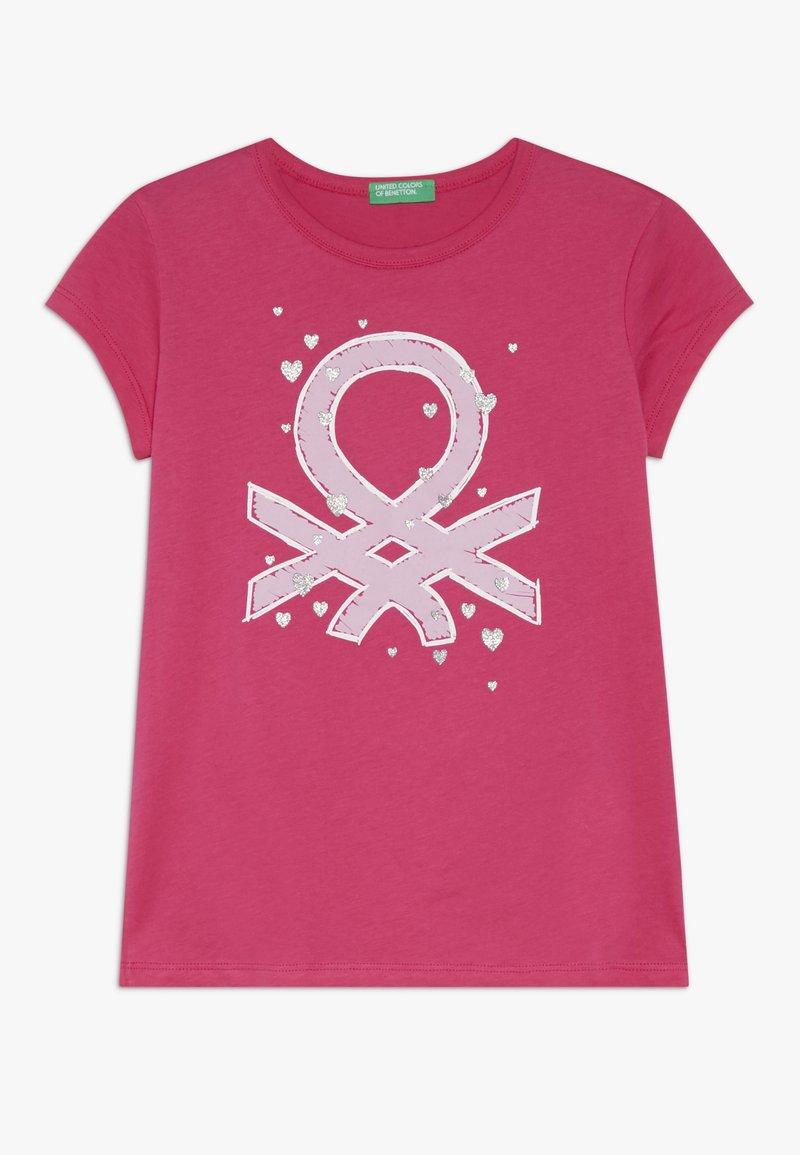 Benetton - Print T-shirt - pink