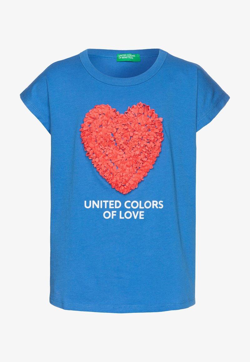 Benetton - Print T-shirt - blue
