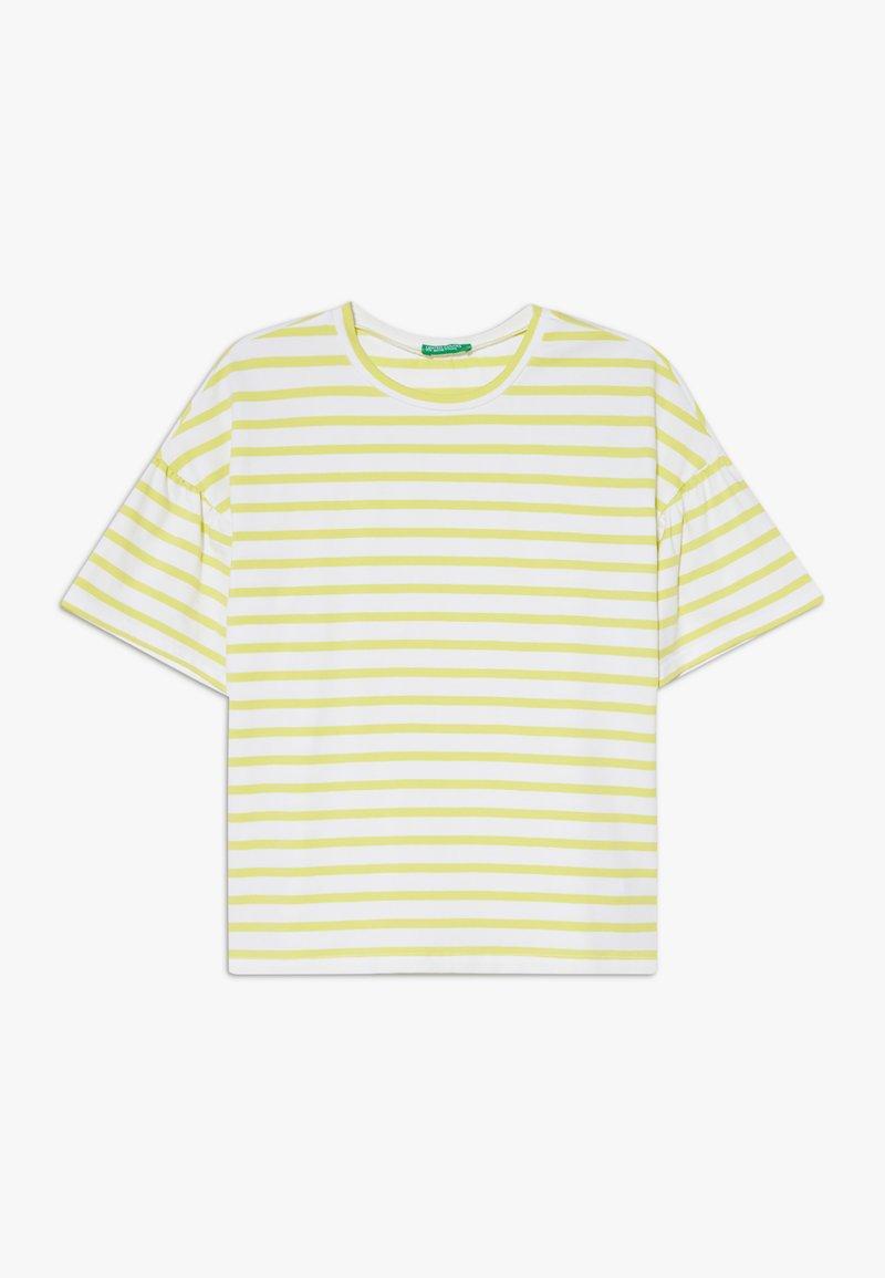 Benetton - Camiseta estampada - yellow