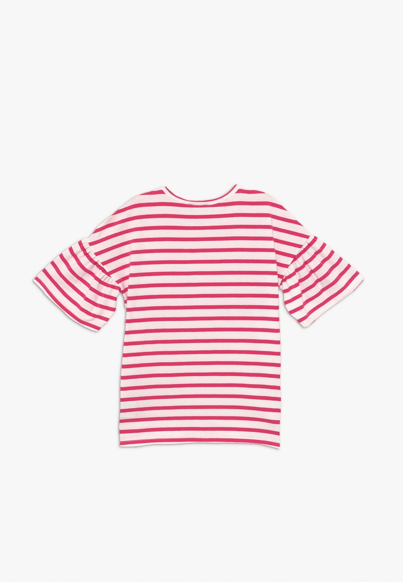Benetton - Print T-shirt - red/white