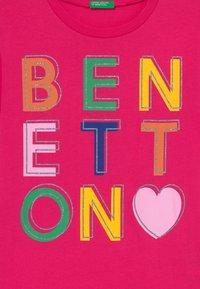 Benetton - Triko spotiskem - pink - 3