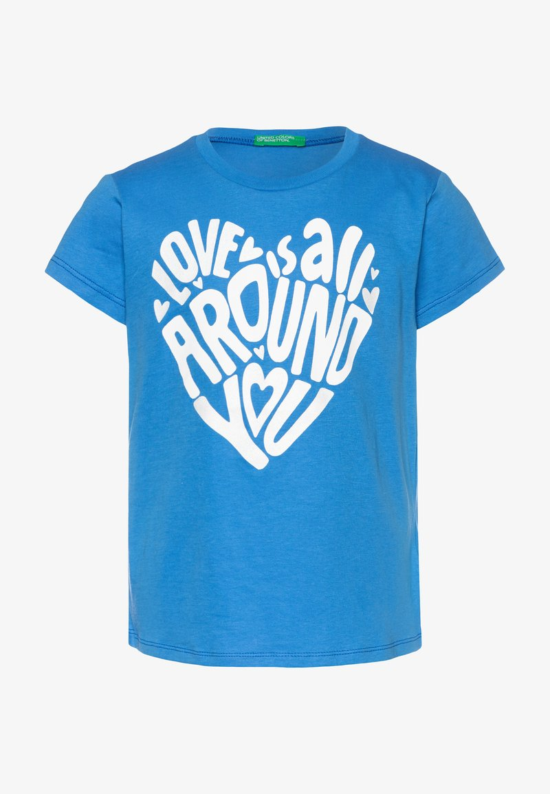 Benetton - T-shirt con stampa - blue