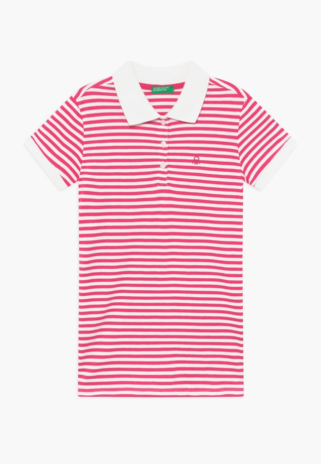 Poloshirts - pink/white