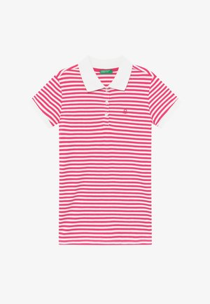 Polo shirt - pink/white