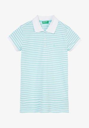 Koszulka polo - light blue/white