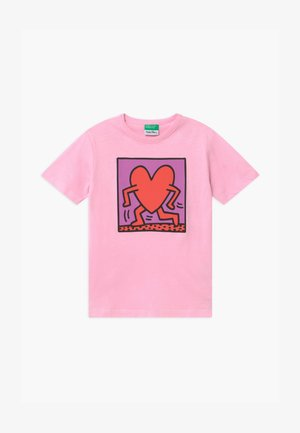 FUNZIONE - T-shirt imprimé - light pink