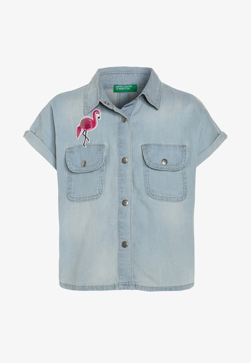 Benetton - Skjortebluser - light blue denim
