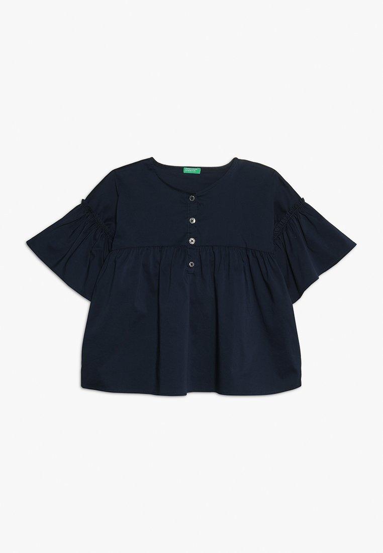Benetton - BLOUSE NO BASIC - Blůza - dark blue