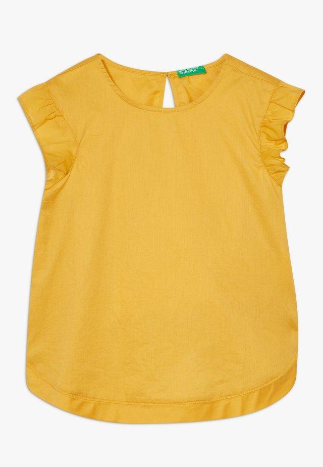 SLEEVELESS - Blouse - mustard yellow