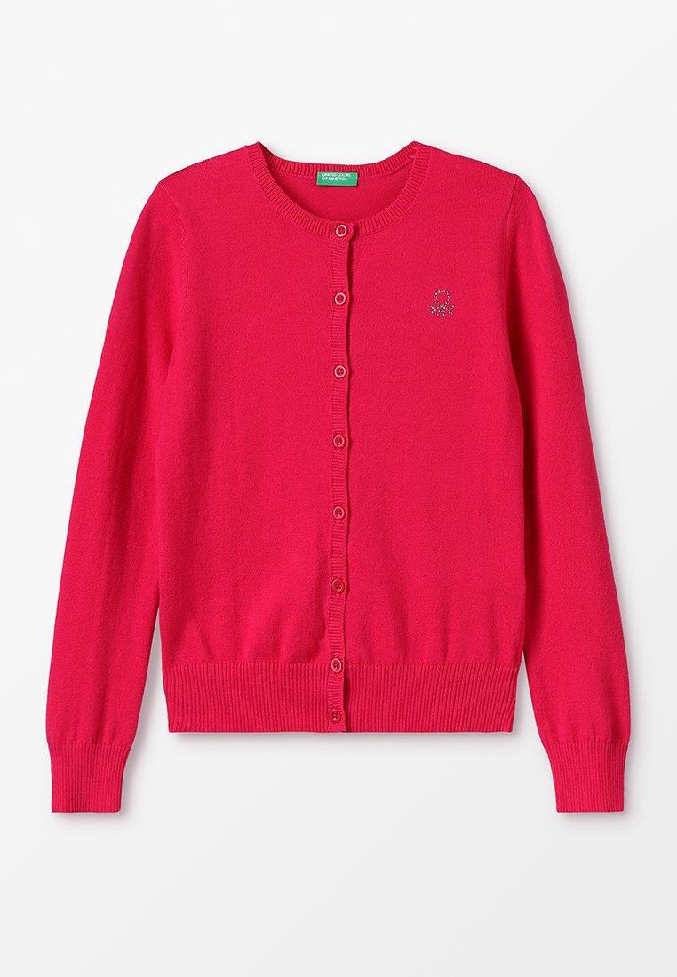 Benetton - BASIC KIDS - Strickjacke - pink