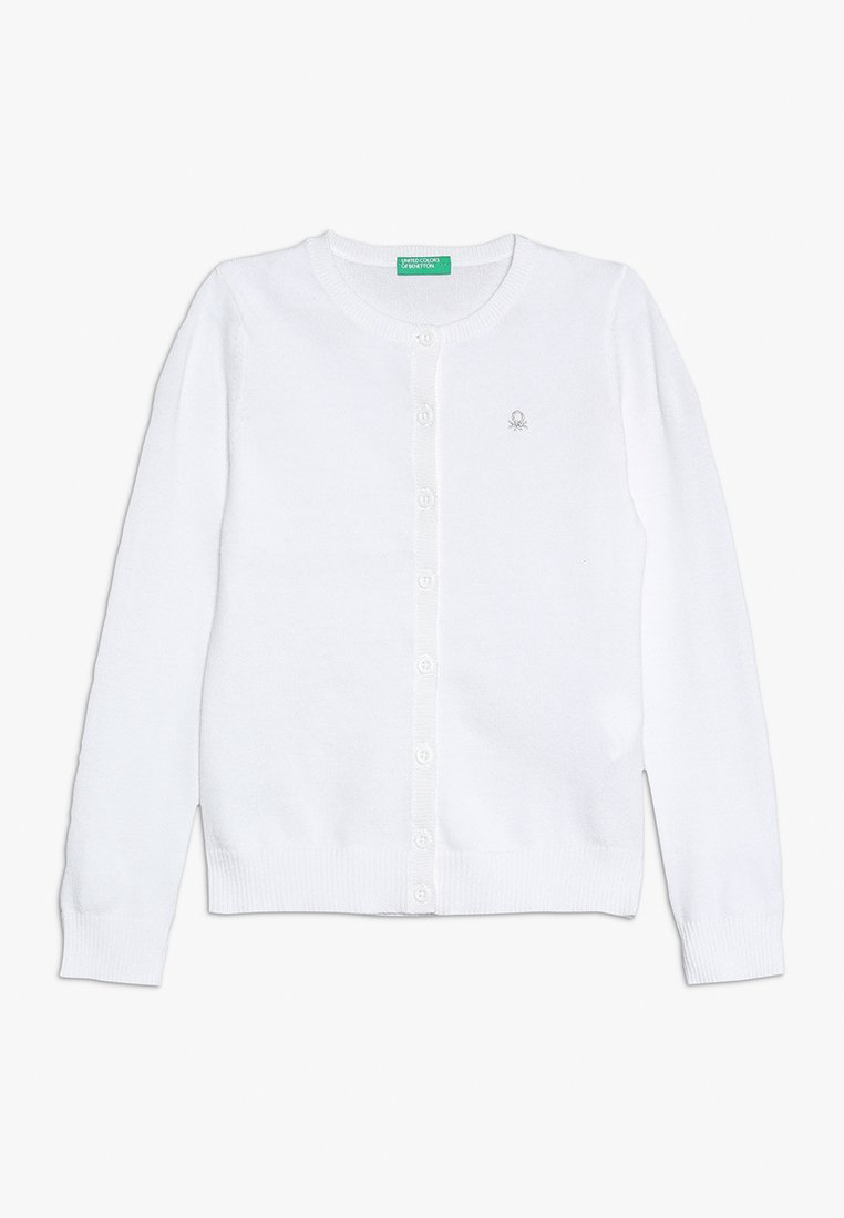 Benetton - BASIC TODDLER - Strikjakke /Cardigans - white