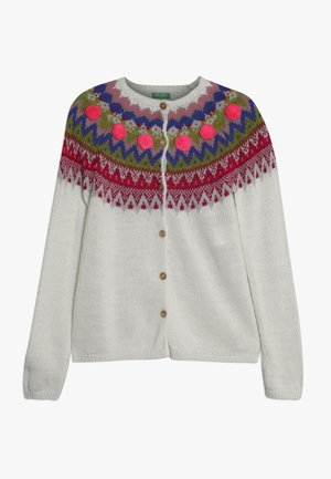 Cardigan - white/multi-coloured