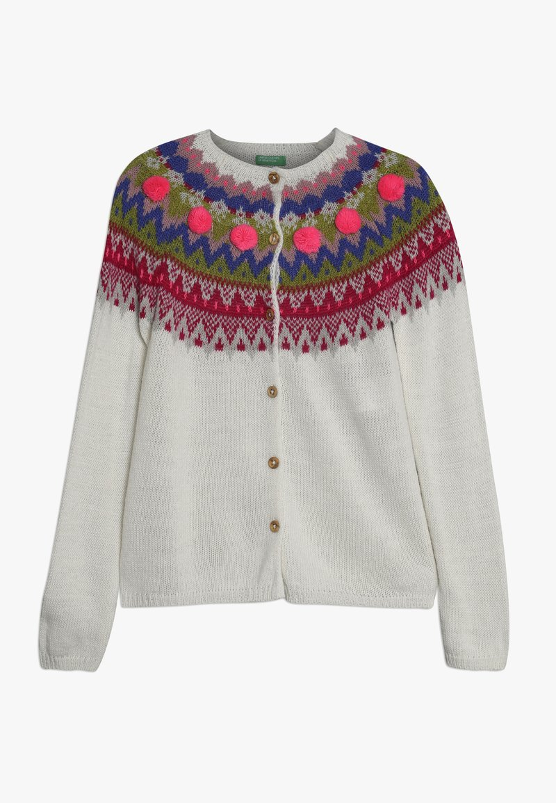 Benetton - Strickjacke - white/multi-coloured