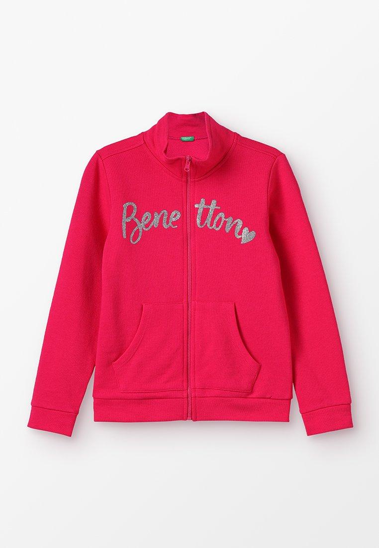 Benetton - JACKET BASIC - Hoodie met rits - pink