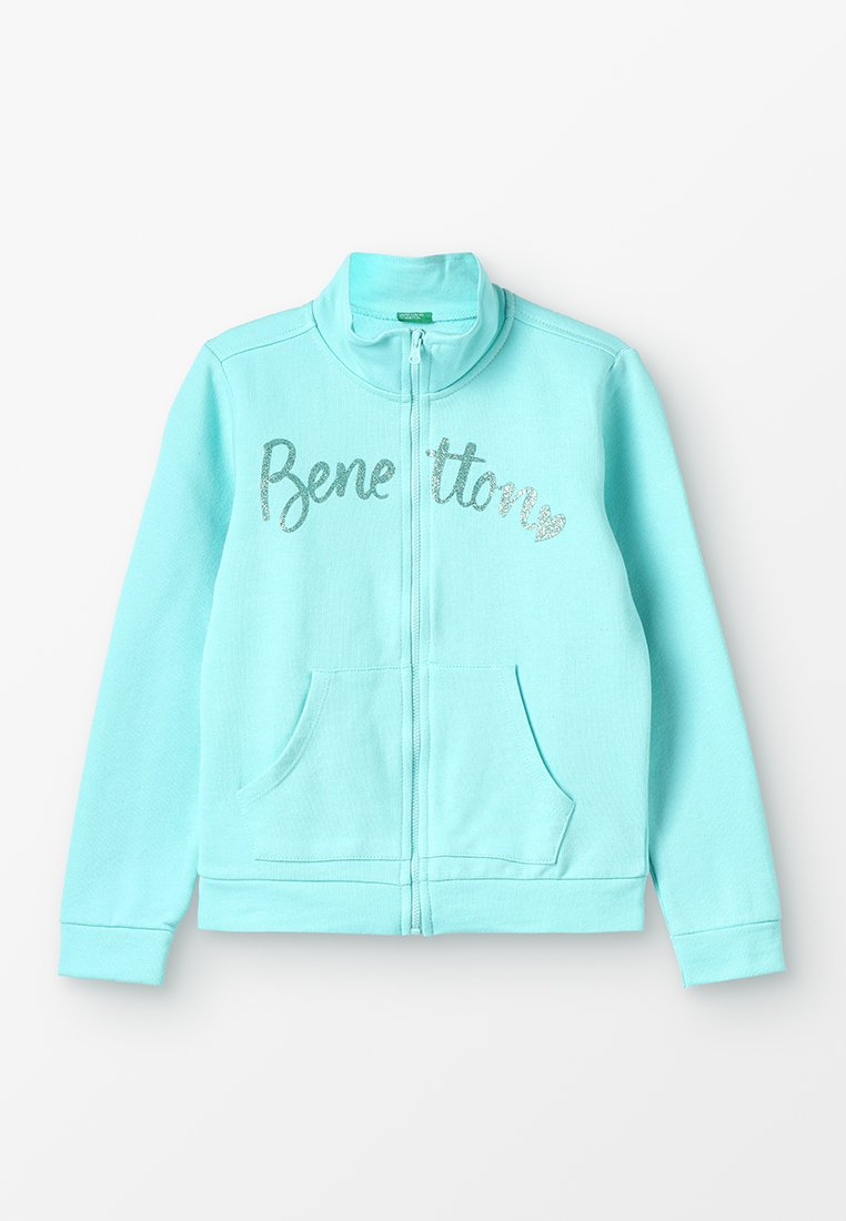 Benetton - JACKET BASIC - veste en sweat zippée - light blue