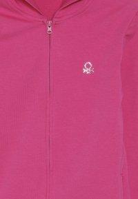 Benetton - JACKET HOOD  - veste en sweat zippée - pink - 4