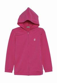Benetton - JACKET HOOD  - veste en sweat zippée - pink - 0