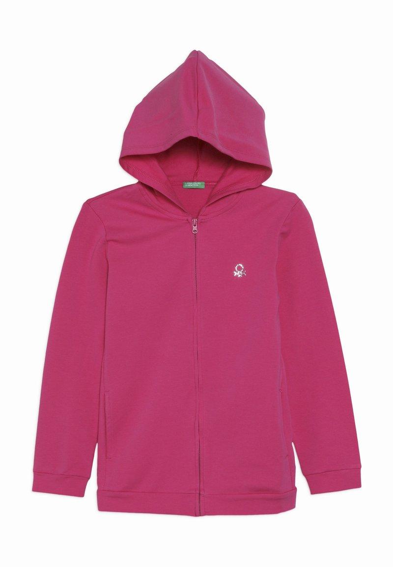 Benetton - JACKET HOOD  - veste en sweat zippée - pink