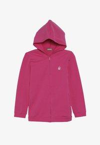 Benetton - JACKET HOOD  - veste en sweat zippée - pink - 3