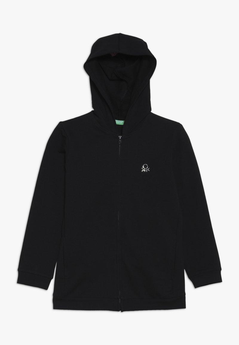 Benetton - JACKET HOOD  - Mikina na zip - black