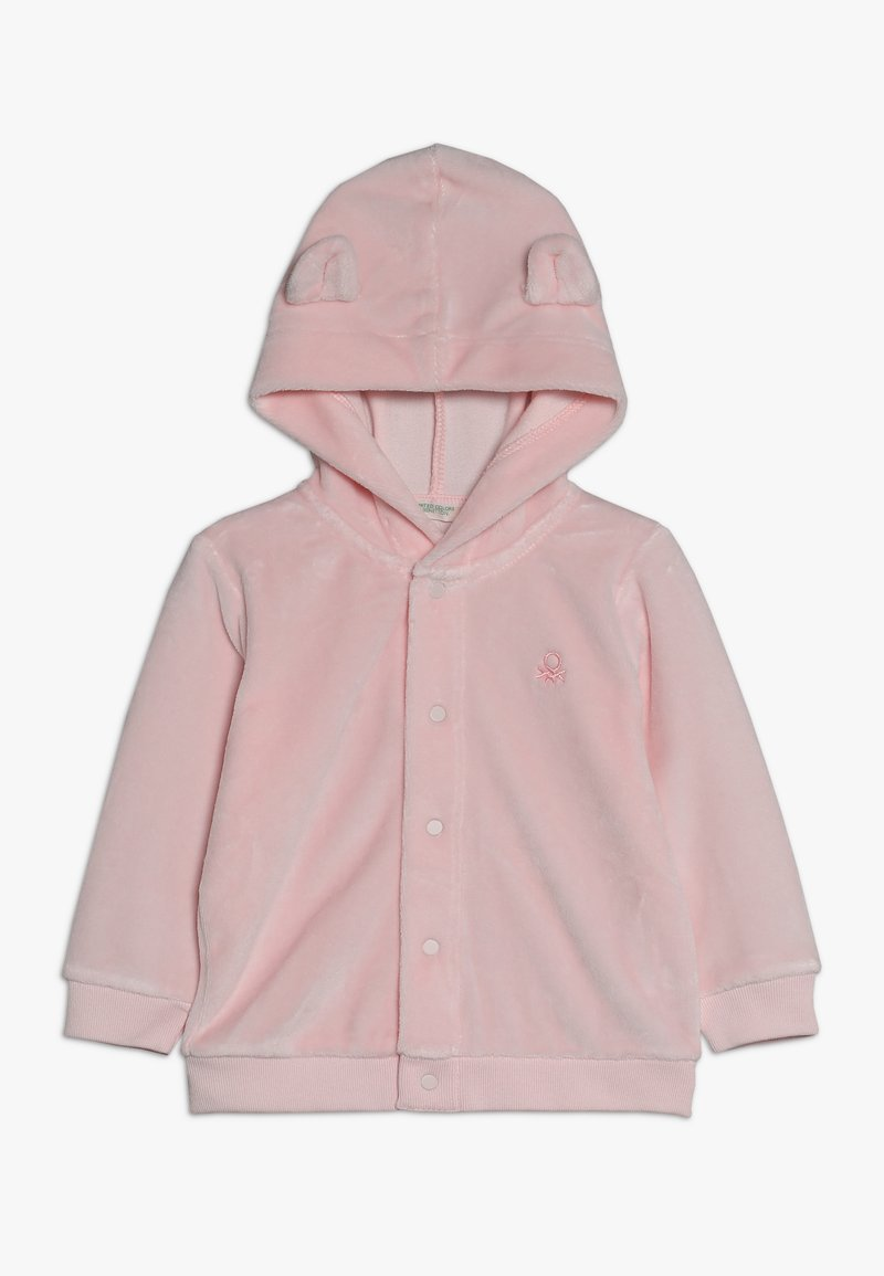 Benetton - JACKET HOOD  - Sudadera con cremallera - light pink