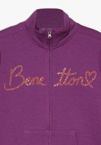 Benetton - JACKET - veste en sweat zippée - purple - 3