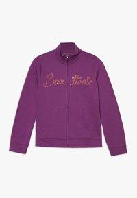 Benetton - JACKET - veste en sweat zippée - purple - 0