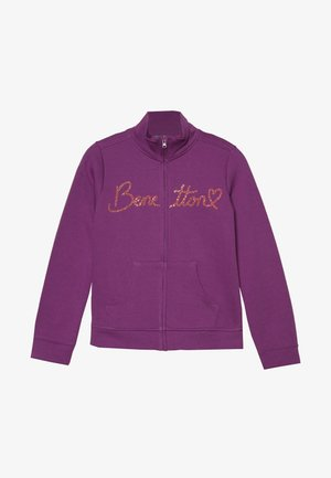 JACKET - Felpa aperta - purple