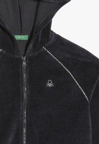 Benetton - JACKET HOOD - Huvtröja med dragkedja - grey - 4