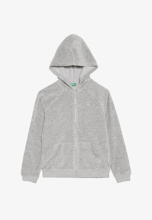JACKET HOOD - Sweatjakke /Træningstrøjer - mottled light grey