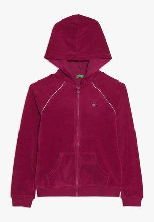 JACKET HOOD - veste en sweat zippée - pink