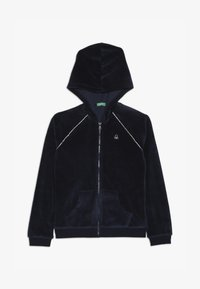 Benetton - JACKET HOOD - Bluza rozpinana - dark blue - 2