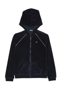 Benetton - JACKET HOOD - Bluza rozpinana - dark blue - 0