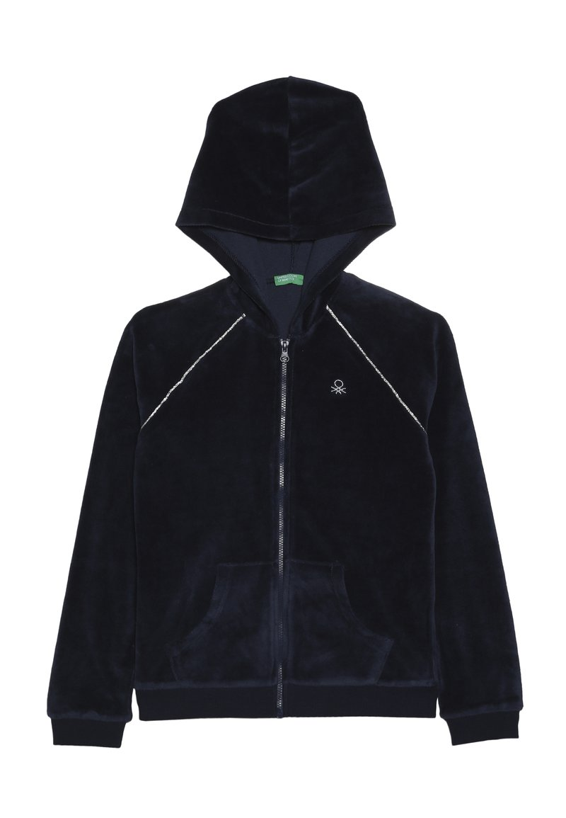 Benetton - JACKET HOOD - Bluza rozpinana - dark blue