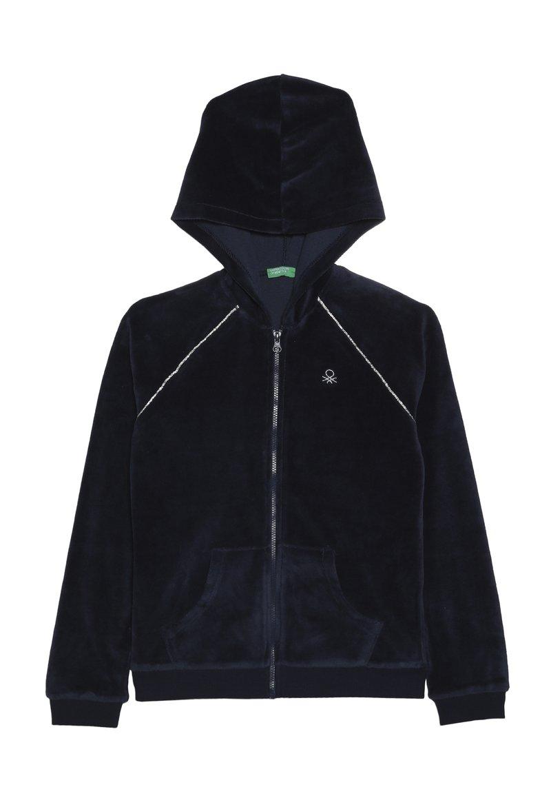Benetton - JACKET HOOD - Zip-up hoodie - dark blue